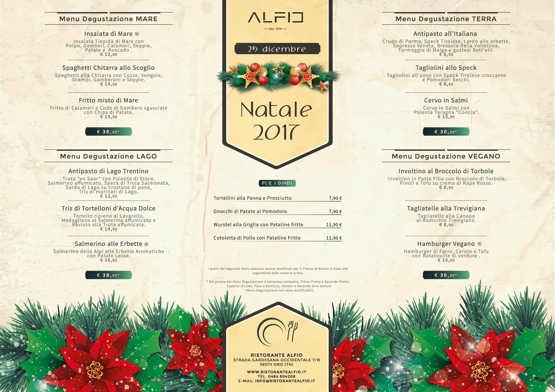 Menu Di Natale A Pranzo.Menu Di Natale 2017 Ristorante Alfio Ristorante Pizzeria Bar