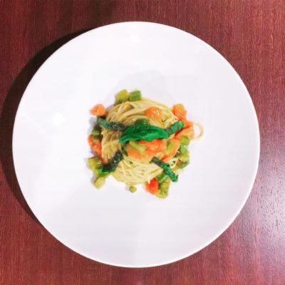spaghetti-kamut-asparagi-zenzero-ristorante-alfio-1-400x400 Spaghetti di Kamut con Asparagi e Zenzero