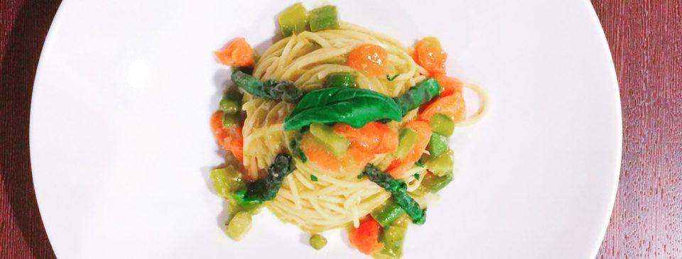 Spaghetti di Kamut con Asparagi e Zenzero