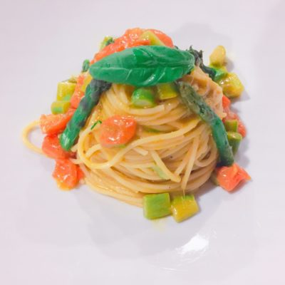 spaghetti-kamut-asparagi-zenzero-ristorante-alfio-2-400x400 Spaghetti di Kamut con Asparagi e Zenzero